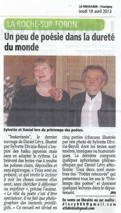 daniel Lévy, Sylvette Divizia-Bayol, instantanés