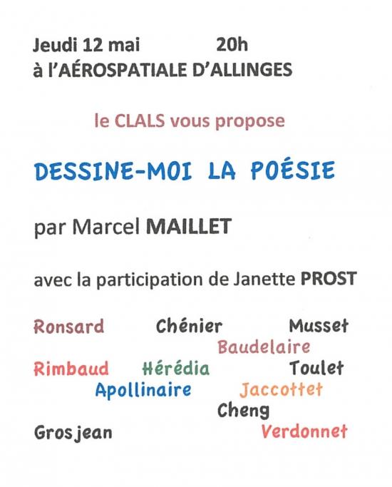 Marcel Maillet, poésie, lectures,