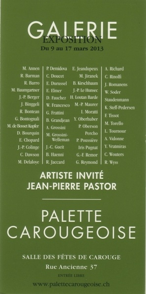 christibne doucet, palette carougeoise