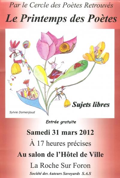 cpr, Printemps des poètes, La Roche sur Foron