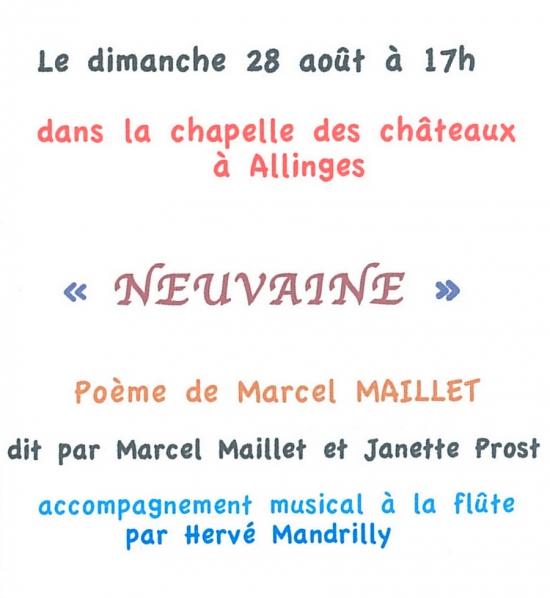 marcel maillet, Janette Prost, Hervé Mandrilly, neuvaine